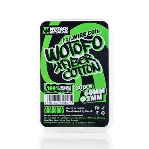 Xfiber Cotton 3MM by Wotofo (30 Pcs Per Pack)