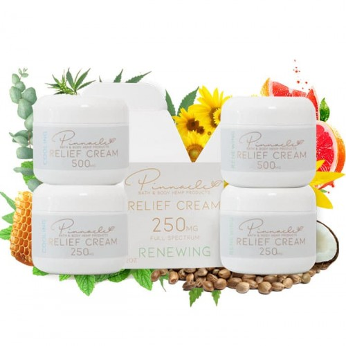 Relief Cream 2 oz 250mg by Pinnacle Hemp