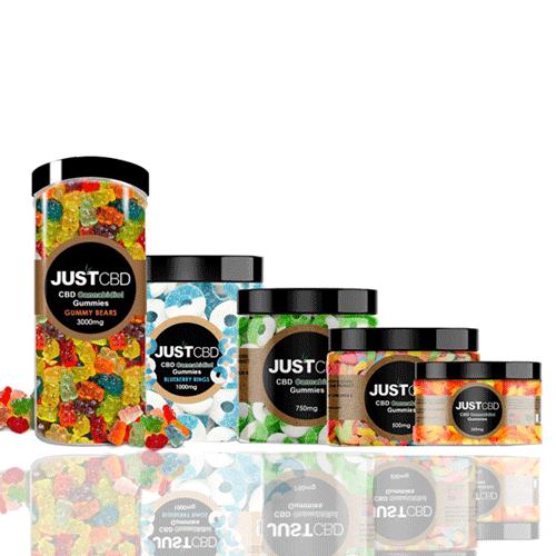 CBD Gummy Jars 1000mg Just CBD