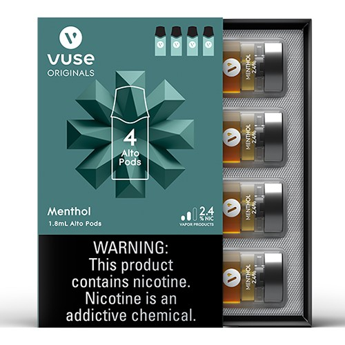Alto Replacement Pods by Vuse 2.4 mg (4 Per Pack) (Box of 5 Packs)