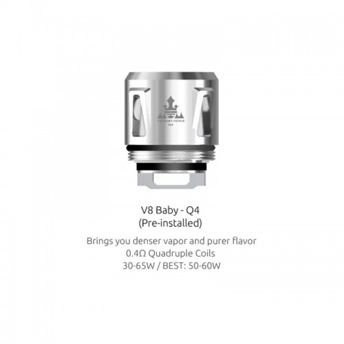 TFV8 Baby - Q4 Replacement Coils by Smok  (5-Pcs Per Pack)