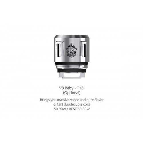 TFV8 Baby - T12 Replacement Coils by Smok  (5-Pcs Per Pack)