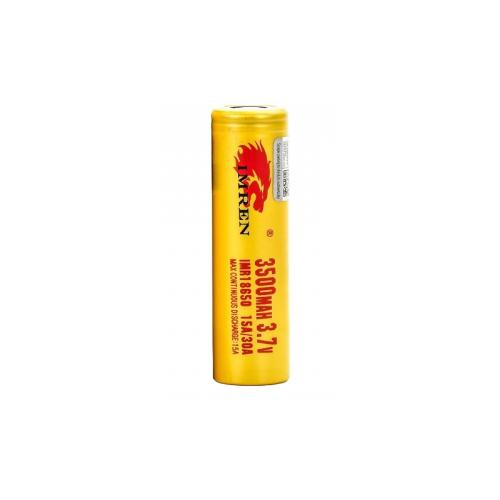 IMR 18650 3.7V 3500mAh 15A/30A Flat Top Battery by Imren
