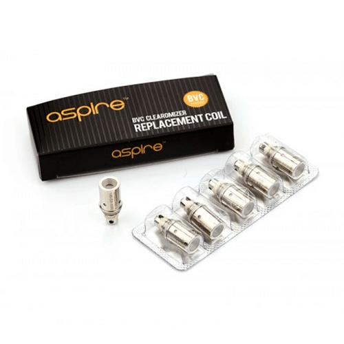 BVC Clearomizer Replacement Coils by Aspire (5-Pcs Per Pack)