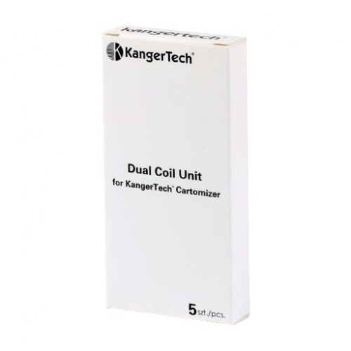 Dual Heating Replacement Coils by Kanger (5-Pcs Per Pack)
