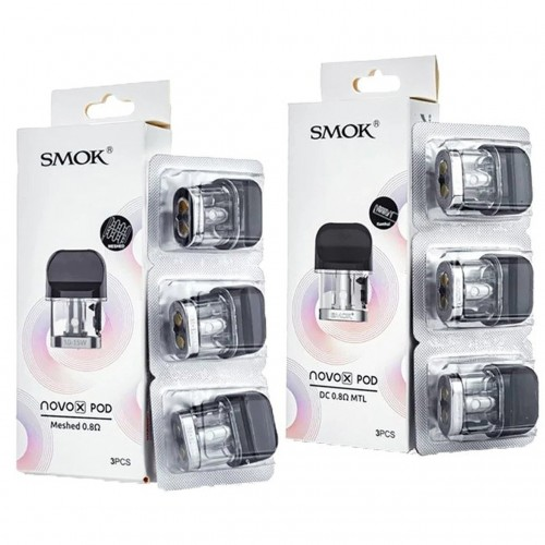 Novo X Replacement Pods by Smok (3-Pcs Per Pack)