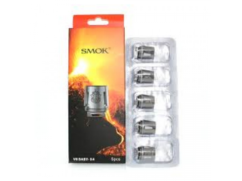 TFV8 Baby - X4 Replacement Coils by Smok