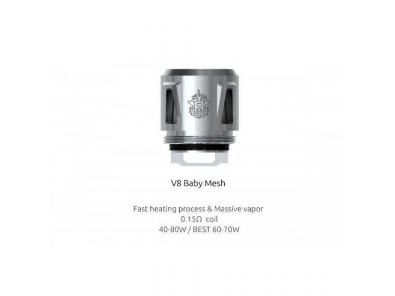 TFV8 Baby Mesh Replacement Coils by Smok  (5-Pcs Per Pack)