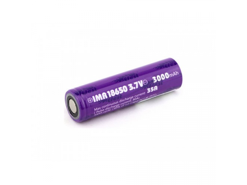 IMR 18650 3000mah Battery by Efest  Flat Top