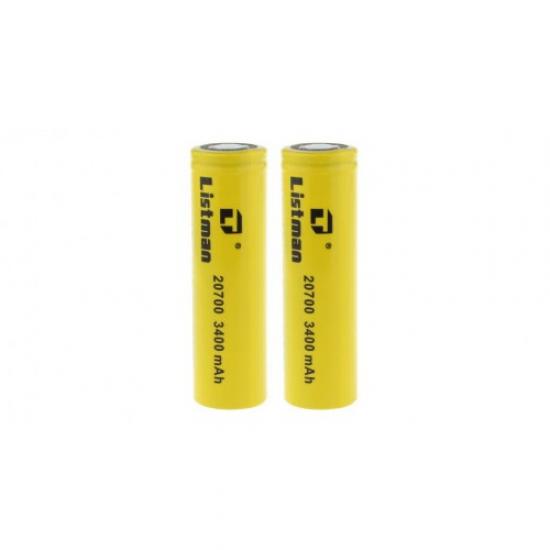 IMR 20700 3.7V 3400mAh Battery by Listman