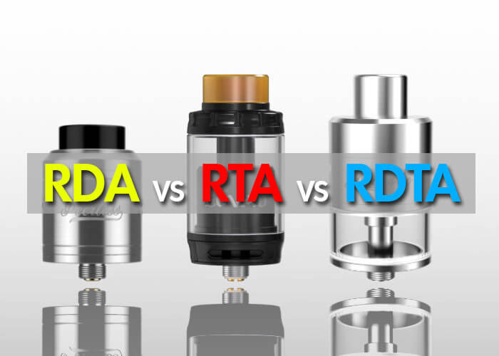 Most of the people don't know about the difference of RDA, RTA and RDTA. These all are the categories of vaping atomizer. WWVape help you to understand about RDA vs RTA vs RDTA.